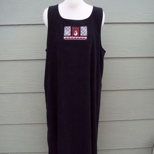 CJ Banks Long Jumper Dress Plus 18W Black Snowman